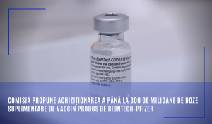 Comisia propune achiziționarea a până la 300 de milioane de doze suplimentare de vaccin BioNTech-Pfizer
