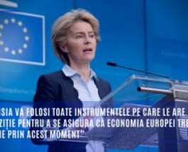 """Coronavirus: """"Comisia va folosi toate instrumentele pe care le are la dispoziție pentru a se asigura că economia Europei trece cu bine prin acest moment"""""""
