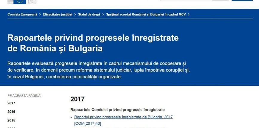 Raportul anual privind Mecanismul de Cooperare și Verificare