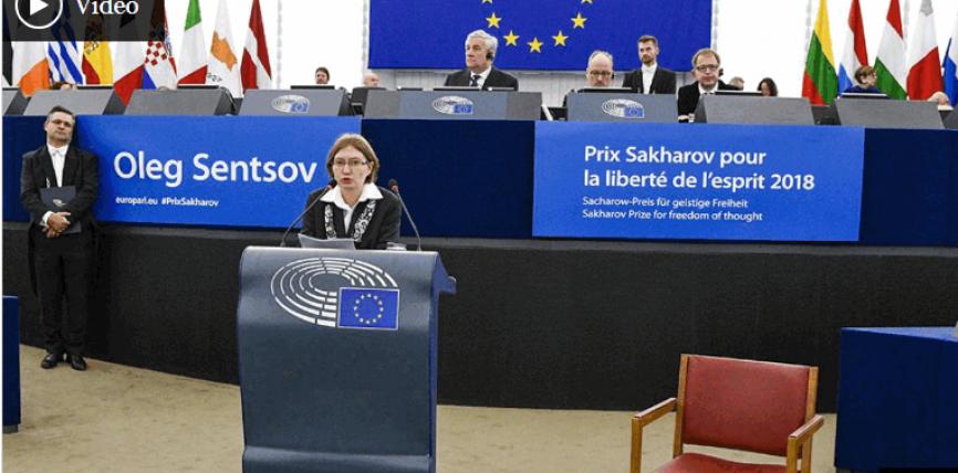 Regizorul ucrainean Oleg Sențov primește Premiul Saharov