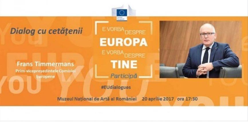 Prim-vicepreședintele Frans Timmermans, în vizită în România