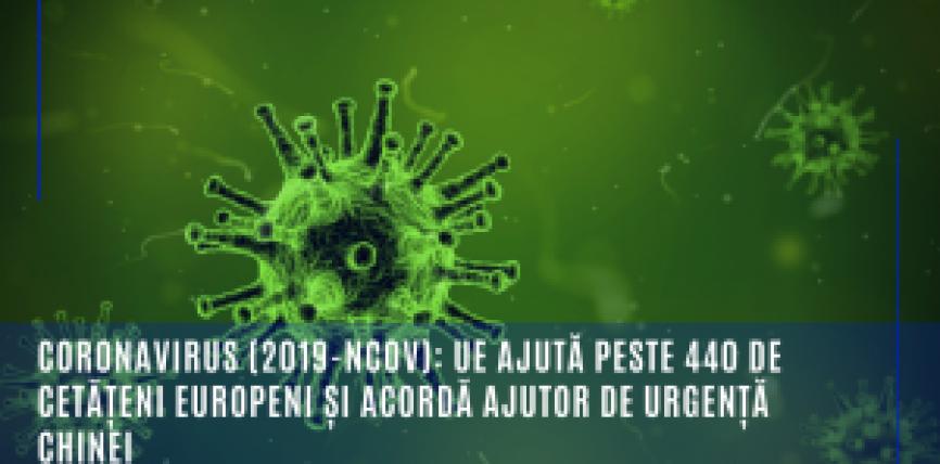 Coronavirus (2019-nCoV): UE sprijină repatrierea a peste 440 de cetățeni și acordă ajutor Chinei