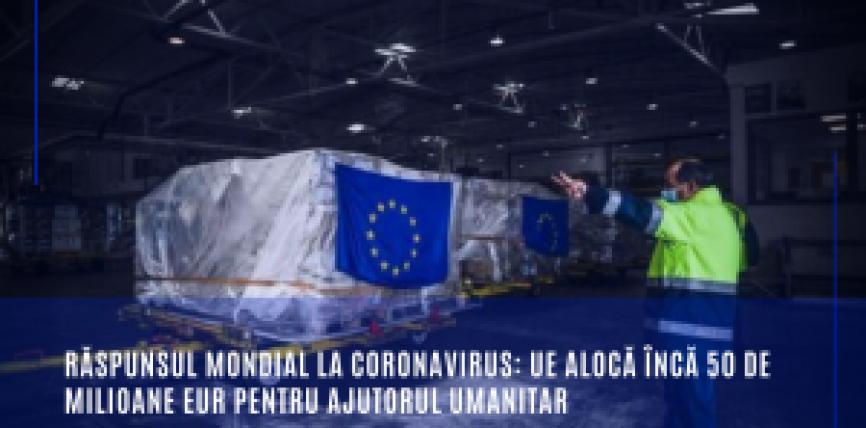 Răspunsul mondial la coronavirus: UE alocă încă 50 de milioane EUR pentru ajutorul umanitar