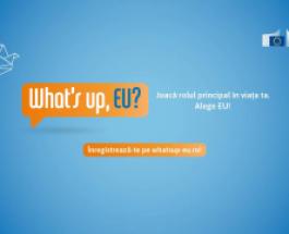 "Participă la conferința interactivă ""What's up, EU?"""