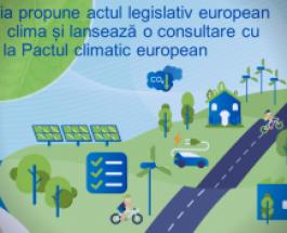 Angajamentul asumat în favoarea neutralității climatice până în 2050: Comisia propune actul legislativ european privind clima și lansează o consultare cu privire la Pactul climatic european