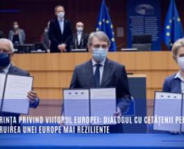 Conferința privind viitorul Europei: Dialogul cu cetățenii pentru construirea unei Europe mai reziliente