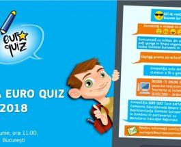 Euro Quiz 2018, concursul național dedicat elevilor de clasa a VI-a, își anunță finaliștii