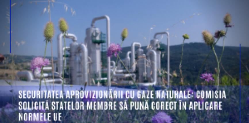 Securitatea aprovizionării cu gaze naturale: Comisia solicită statelor membre să pună corect în aplicare normele UE