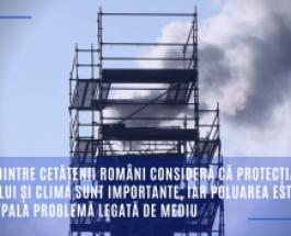 87% dintre cetățenii români consideră că protecția mediului și clima sunt importante, iar poluarea este principala problemă legată de mediu