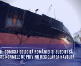 Deșeuri: Comisia solicită României și Suediei să respecte normele UE privind reciclarea navelor
