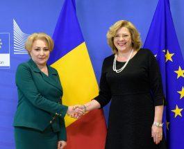 Întâlnirea comisarului european Corina Crețu cu prim-ministrul român Viorica Dăncilă