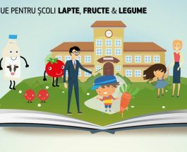 Lapte, fructe și legume pentru școlari cu sprijin UE