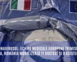 Coronavirusul: echipe medicale europene trimise în Italia, România mobilizează 11 doctori şi 6 asistente