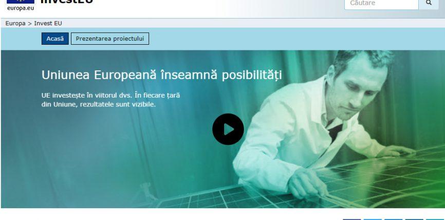 Iată un nou site care prezintă modul în care Uniunea Europeană investește în viitor