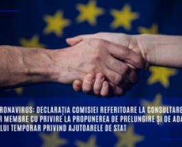 Noul coronavirus: Declarația Comisiei referitoare la consultarea statelor membre cu privire la propunerea de prelungire și de adaptare a Cadrului temporar privind ajutoarele de stat