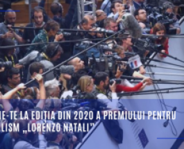 """Înscrie-te la ediția din 2020 a Premiului pentru Jurnalism """"Lorenzo Natali"""""""