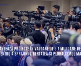 UE finanțează proiecte în valoare de 5.1 milioane de euro pentru a sprijini libertatea și pluralismul mass-media