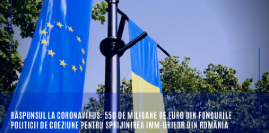 Răspunsul la coronavirus: 550 de milioane de euro din fondurile politicii de coeziune pentru sprijinirea IMM-urilor din România