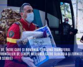 Țările UE, între care și România, sprijină transferul transfrontalier de echipe medicale către Slovacia și furnizează ajutor Serbiei