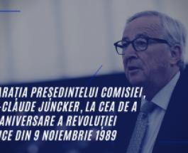 Declarația Președintelui Comisiei, Jean-Claude Juncker, la cea de a 30-a aniversare a revoluției pașnice din 9 noiembrie 1989
