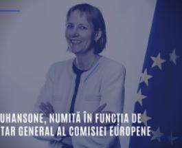 Ilze Juhansone, numită în funcția de secretar general al Comisiei Europene