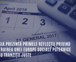 Comisia prezintă primele reflecții privind construirea unei Europe sociale puternice pentru tranziții juste