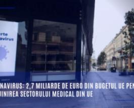 Coronavirus: 2,7 miliarde de euro din bugetul UE pentru sprijinirea sectorului medical din UE