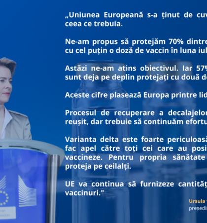 Declarația președintei von der Leyen privind o nouă etapă importantă în strategia UE privind vaccinurile